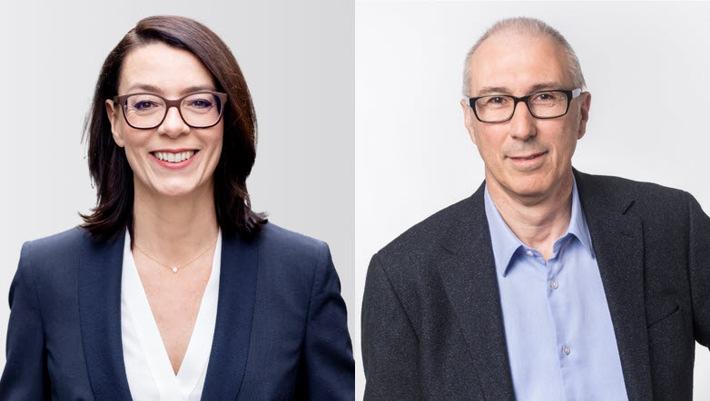 Nathalie Wappler devient directrice générale suppléante SSR et Pius Paulin prend le poste de directeur RTR par intérim