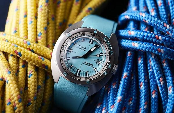 Orangemania, mais pas seulement !   La couleur coule dans l'ADN de DOXA Watches.